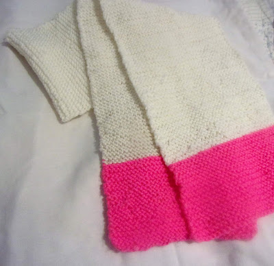 My first knitted scarf