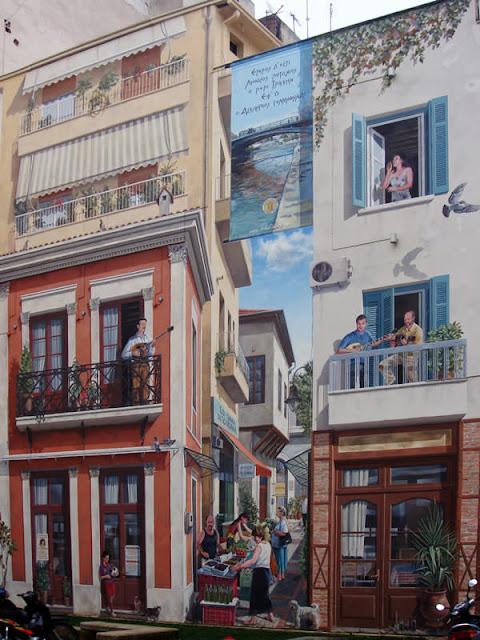 Grafiti atau Lukisan Dinding aktifitas perdagangan