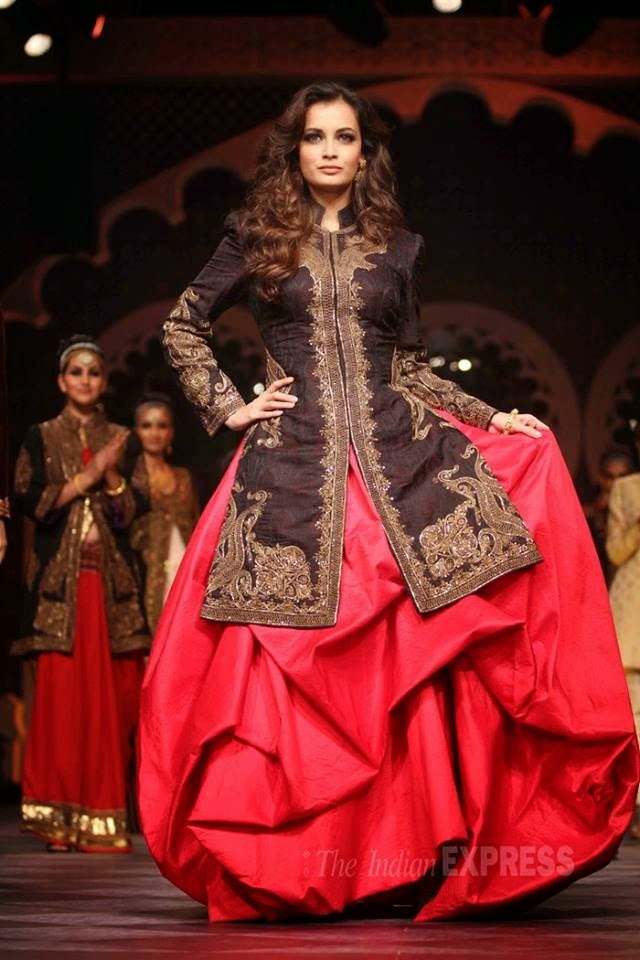 Dia Mirza Fashion Shows.
