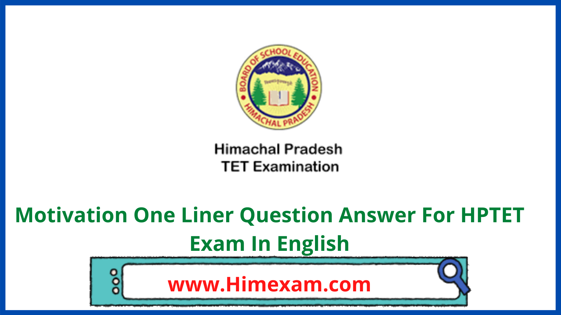 Motivation One Liner Question Answer For HPTET Exam In English