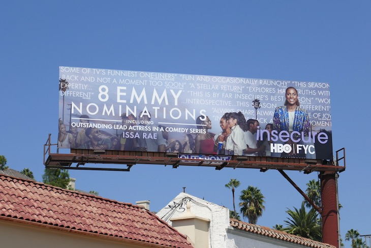 Insecure 2020 Emmy nominee billboard