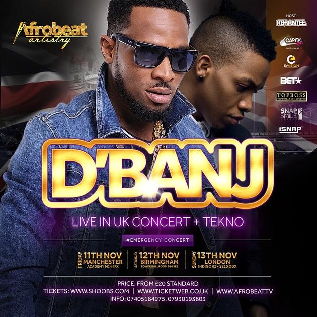D'Banj UK TOUR 2016