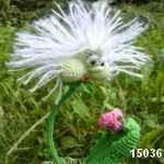patron gratis planta diente de leon amigurumi, free amigurumi pattern dandelion plant