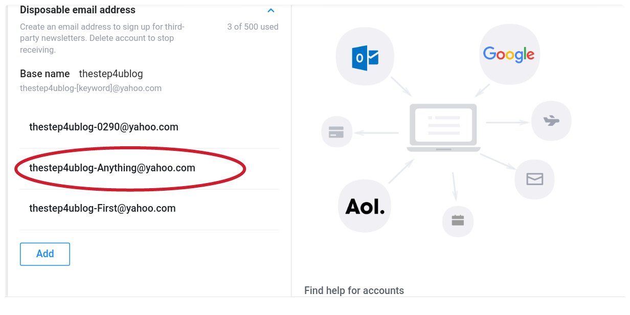 Create disposable email address in your Yahoo account - TheStep4U