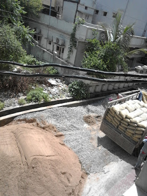 sand-gitti-and-cement-in-site