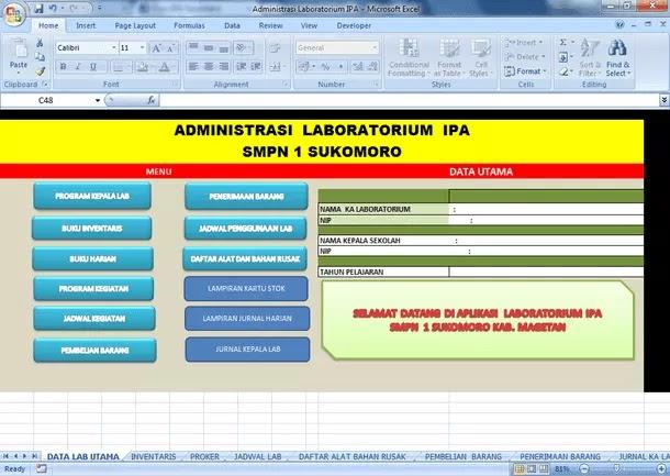 Contoh Administrasi Laboratorium IPA untuk SMP