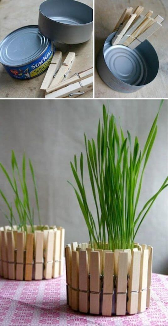Easy crafts with a preacher forming a vase