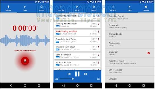 aplikasi android merekam suara