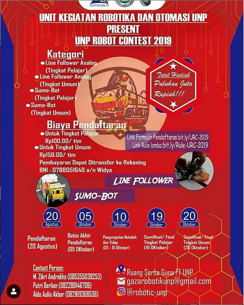 UNP Robot Contest (URC) 2019 oleh Universitas Negeri Padang