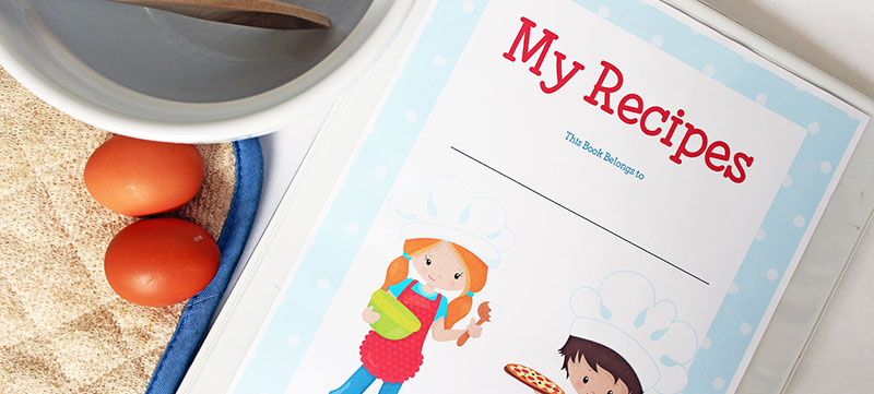 Printable Recipe Binder for Kids Who Love to Cook