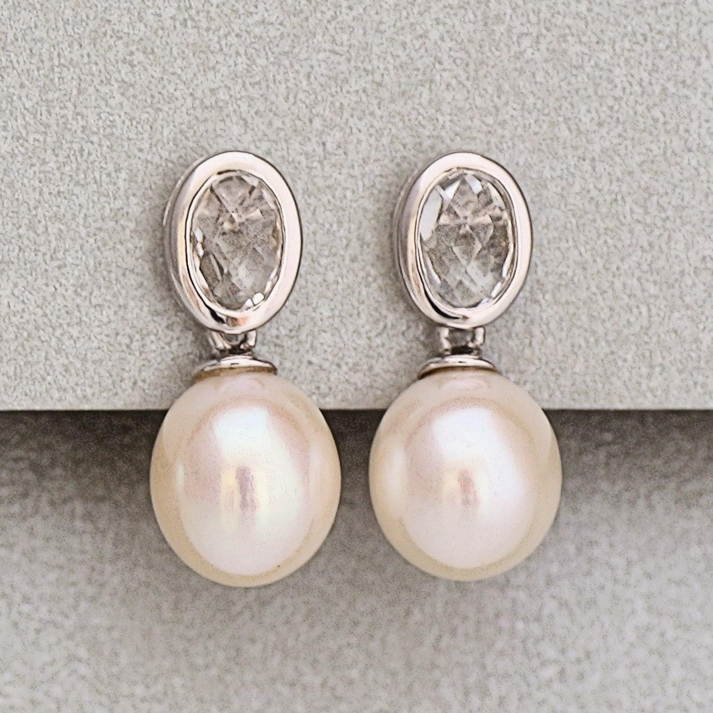 Perlenohrringe  Zuchtperlen in Farbe: Perlen Ohrringe online kaufen