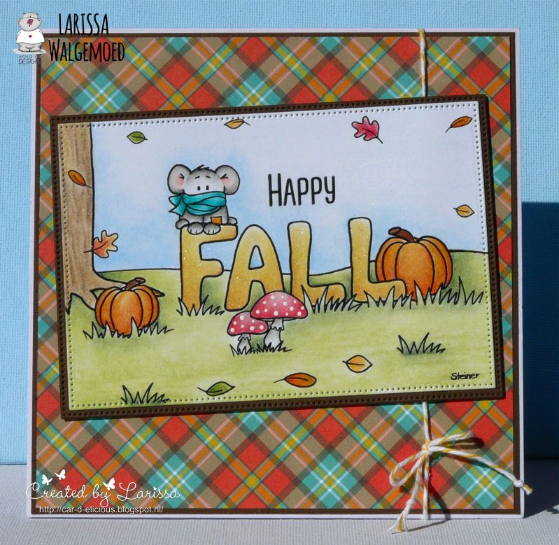 This Time I Have Made A Card With Freebie Image From Gerda Is The Happy Fall Printable Steiner Designs