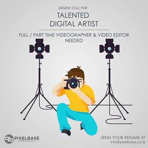 Digital Artist - Full/Part time Videographer and Video Editor.