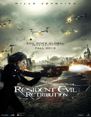 Poster Of Resident Evil Retribution 2012 Hindi Dual Audio 450MB BRRip 720p HEVC Free Download Watch Online downloadhub.net