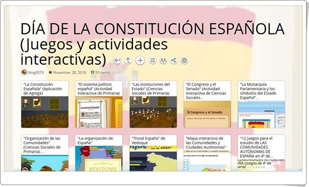 """""""10 juegos y actividades interactivas para celebrar el DÍA DE LA CONSTITUCIÓN ESPAÑOLA"""" (6 de diciembre)"""