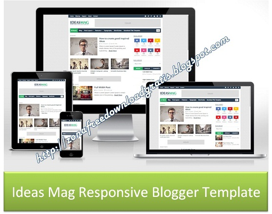 Ideas Mag Responsive Blogger Template