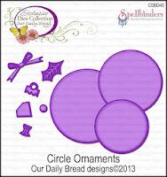 ODBD Custom Circle Ornaments Die Set