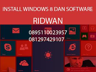 Harga jasa install ulang windows 8 dan software populer khusus daerah bogor