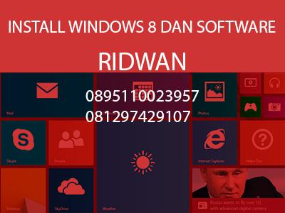 Install ulang laptop dan software daerah bogor