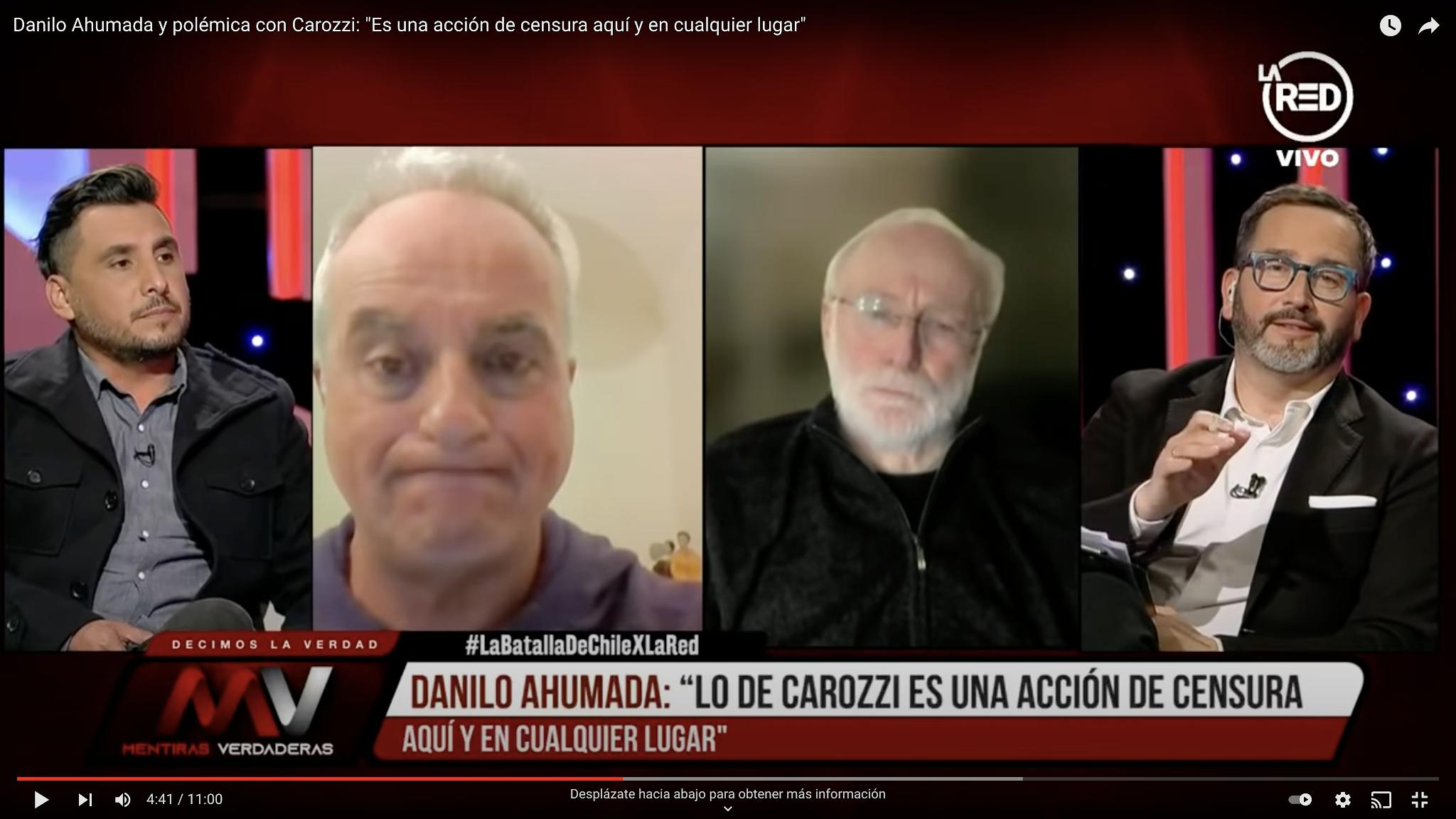 """Danilo Ahumada y polémica con Carozzi: """"Es una acción de censura aquí y en cualquier lugar"""""""