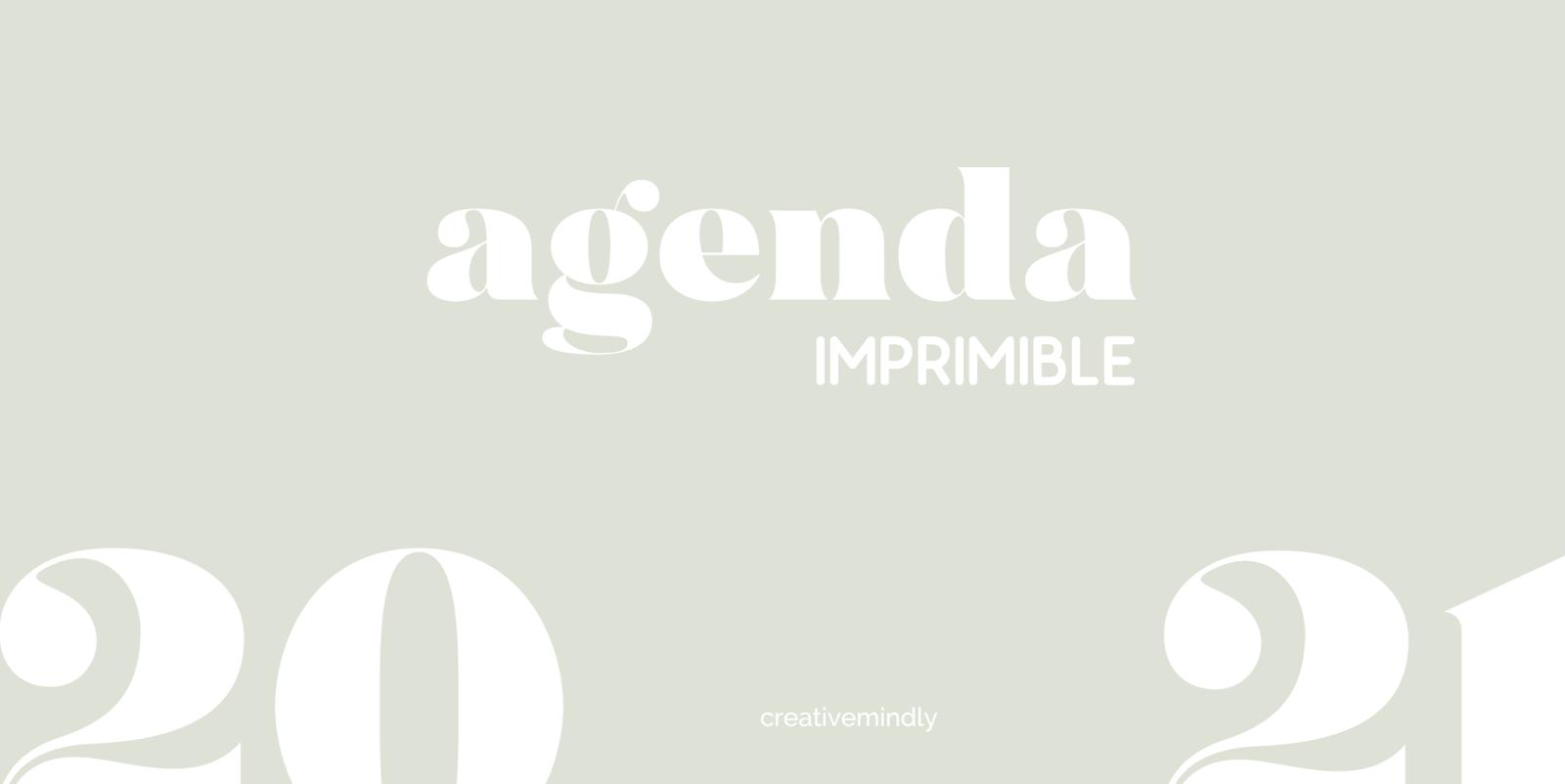 Creative Mindly Agenda Imprimible 2020 2021