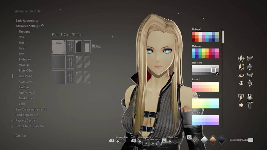 code vein demo ps4 xbox one character customization feature bandai namco entertainment