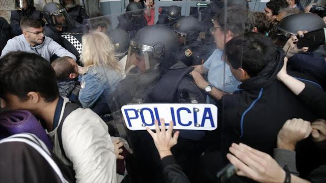 Unos 844 heridos por la carga policial en el referéndum catalán