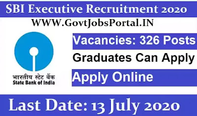sbi executive recruitment 2020