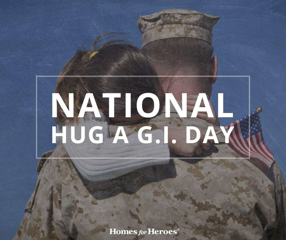 National Hug a G.I. Day Wishes For Facebook