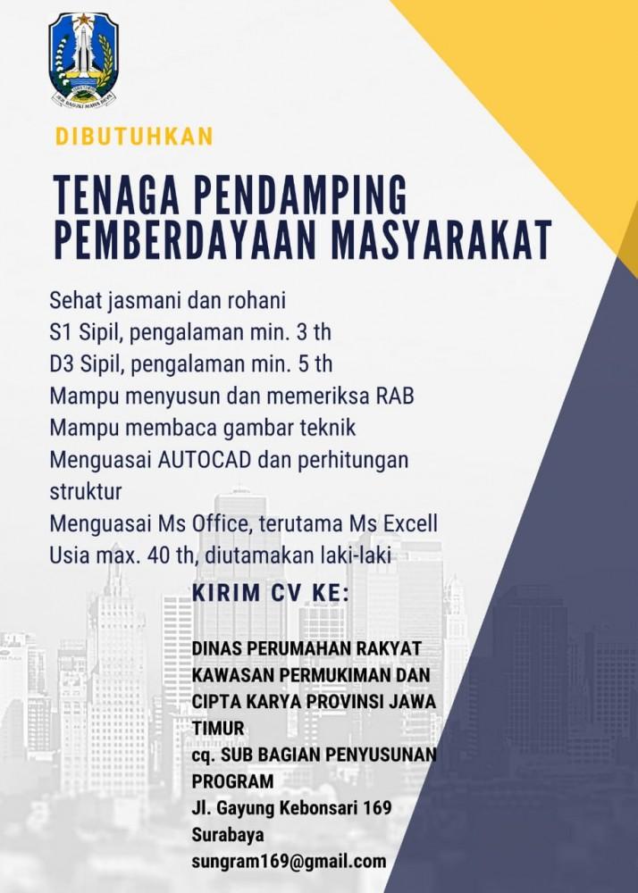Dinas Perumahan Rakyat Kawasan Permukiman dan Cipta Karya Tingkat D3 S1 Januari 2021