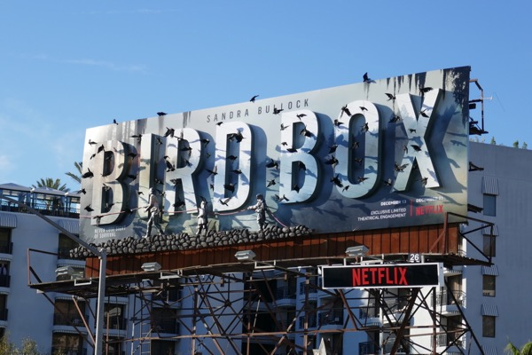 Bird Box Netflix 3D billboard Sunset Strip
