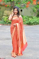 Sakshi Agarwal  in Orange Saree at Inauguration of Handloom And Handicraft exhibition ~  Exclusive 11.JPG