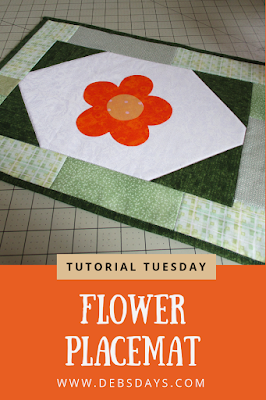 Homemade Quilted Spring Flower Placemat Sewing Project