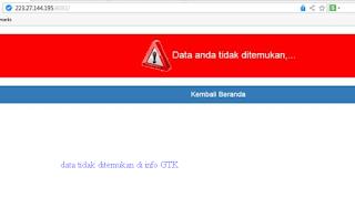 Data Tidak Ditemukan di Info GTK
