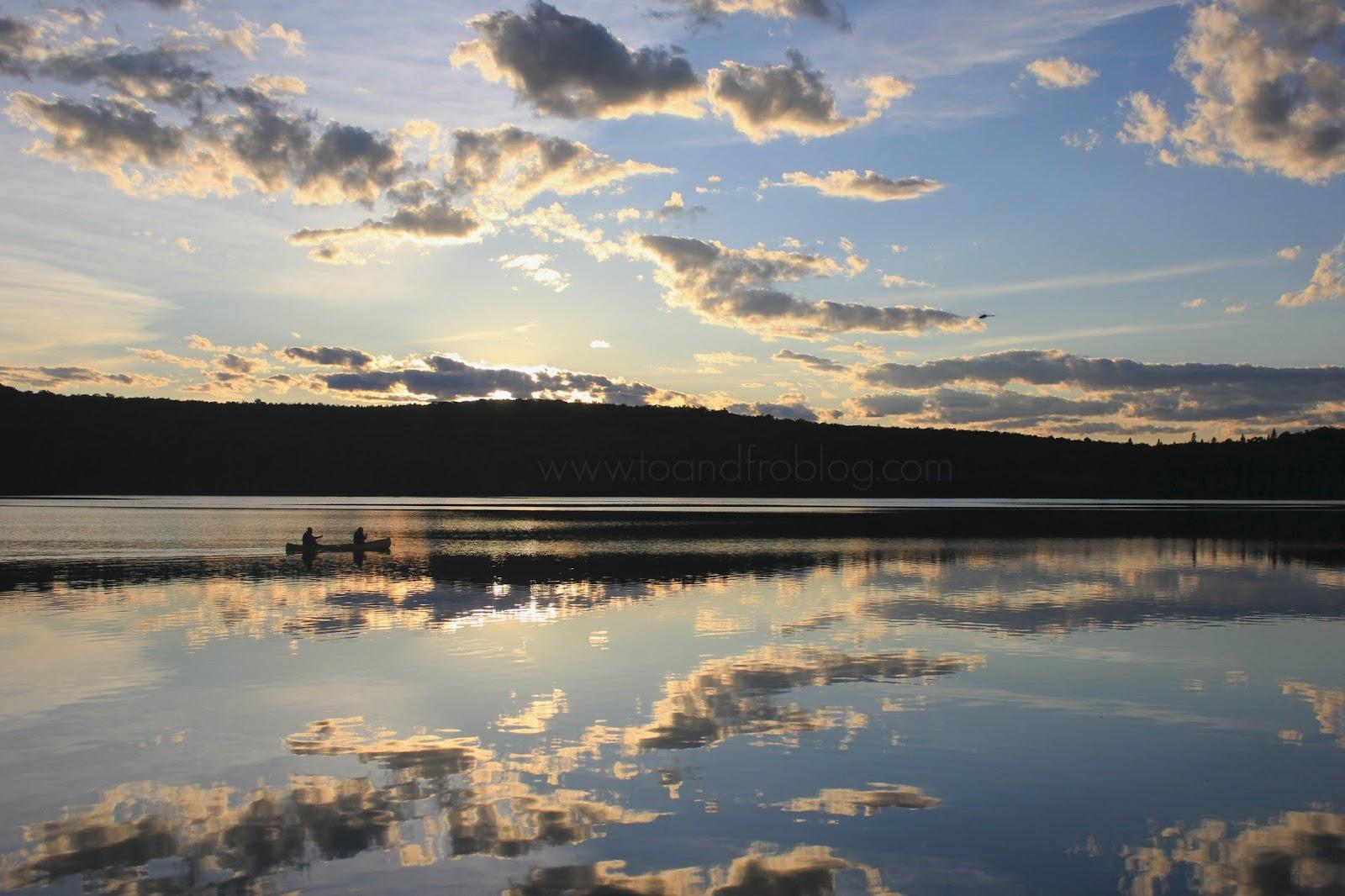 algonquin provincial park, ontario canada sunset