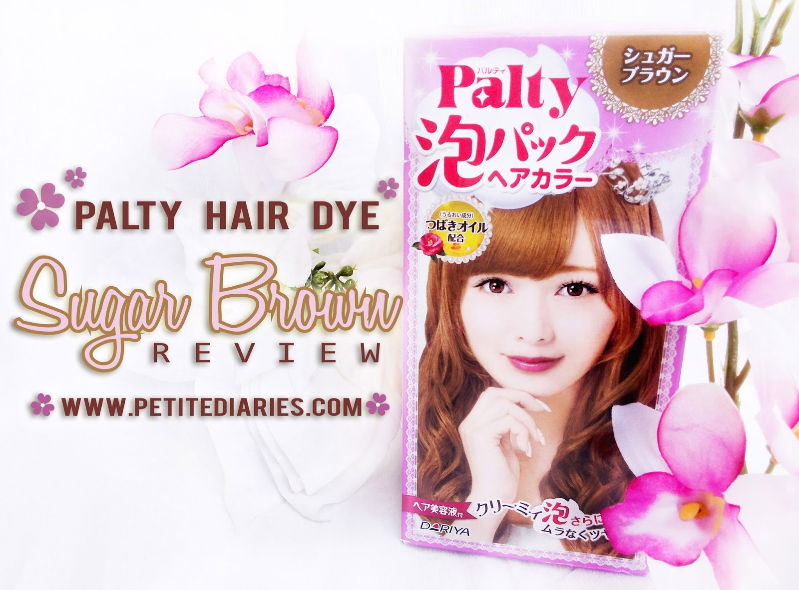 review palty hair bubble sugar brown japan