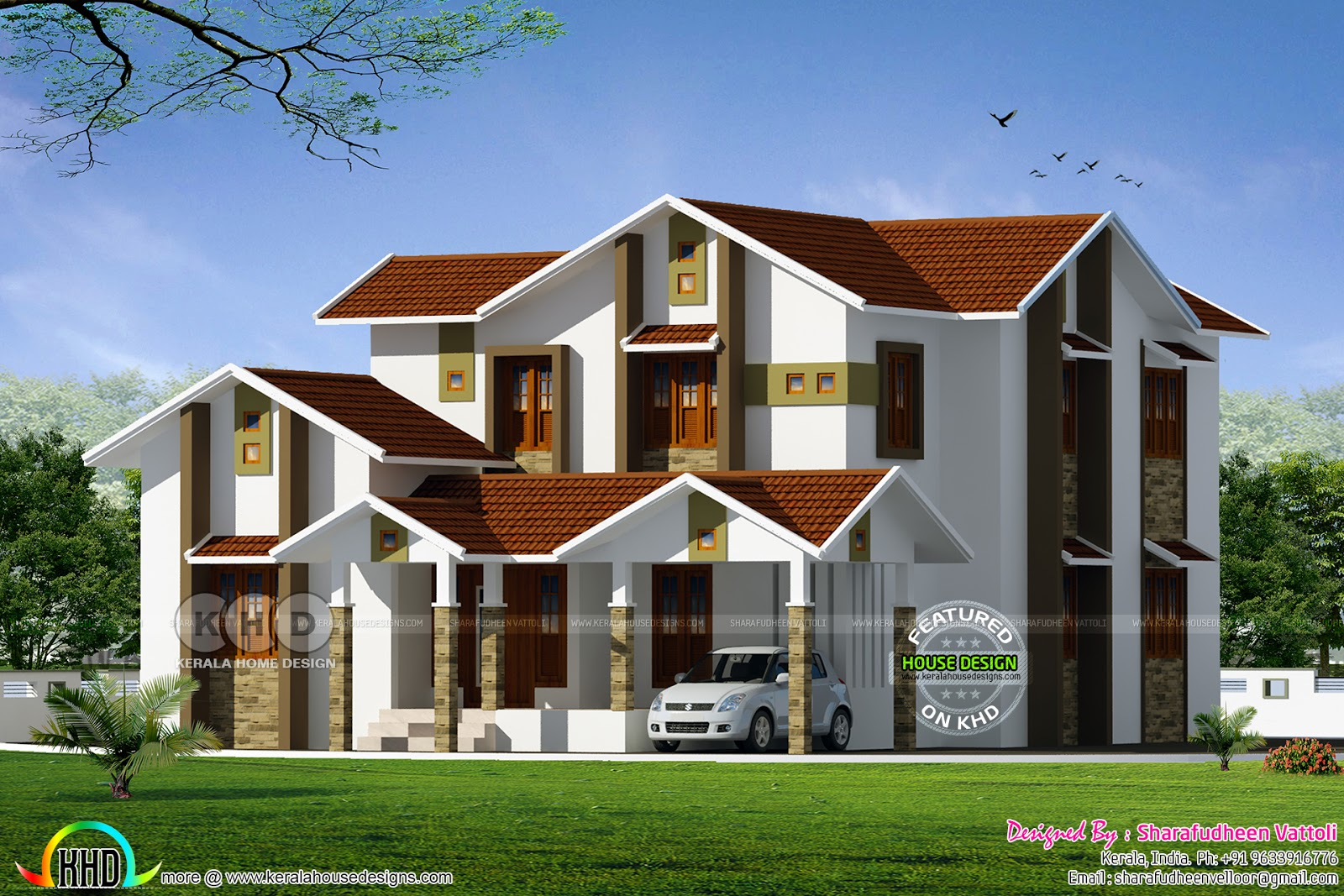 Modern Home With Floor Plan And Compound Wall Design Kerala Home Design And Floor Plans 8000 Houses