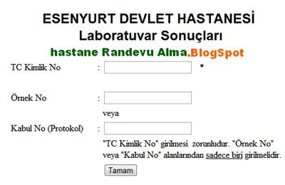 esenyurt+devlet+hastanesi+laboratuvar+tahlil+sonuçları