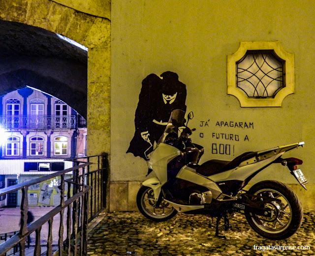Crise europeia - grafite de protesto em Coimbra, Portugal