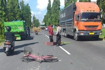 Pengendara Sepeda Pancal di Tuban Meninggal Ditabrak Truk