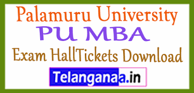 Palamuru University PU MBA Exam HallTickets Download
