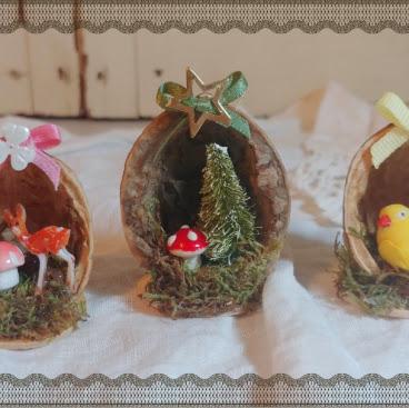 Miniature Scenes from Walnut Shells