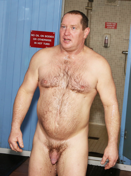 Dad in the shower nude