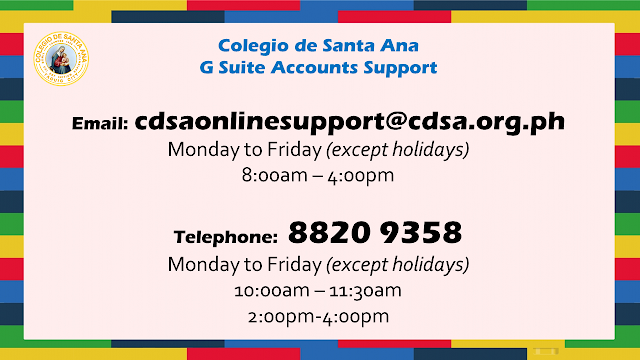 CDSA G Suite Online Support