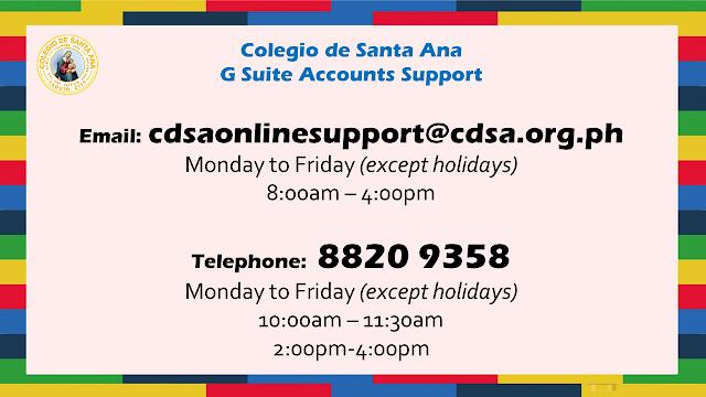 CDSA G Suite Online Support