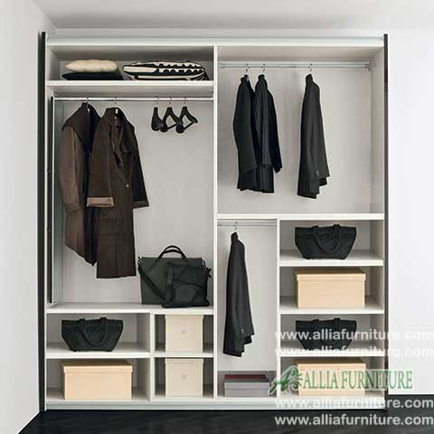 dalam lemari pakaian minimalis 2 pintu liniear