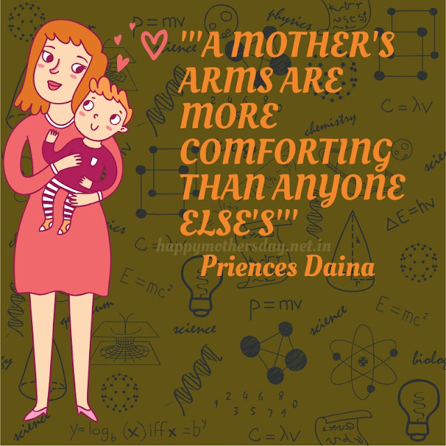 A mother's arms are more comforting than any one else's