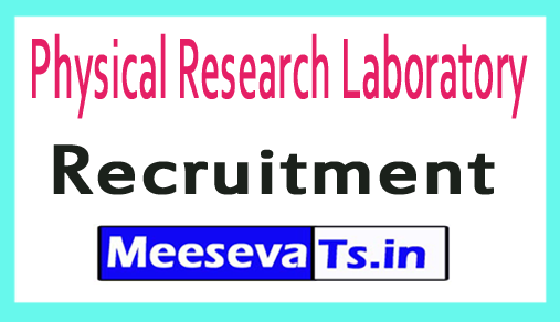 Physical Research Laboratory PRL Recruitment