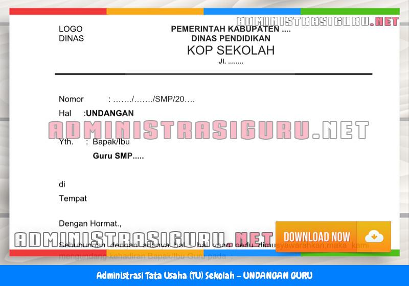Contoh UNDANGAN GURU Administrasi Tata Usaha Sekolah Terbaru Tahun 2015-2016.doc