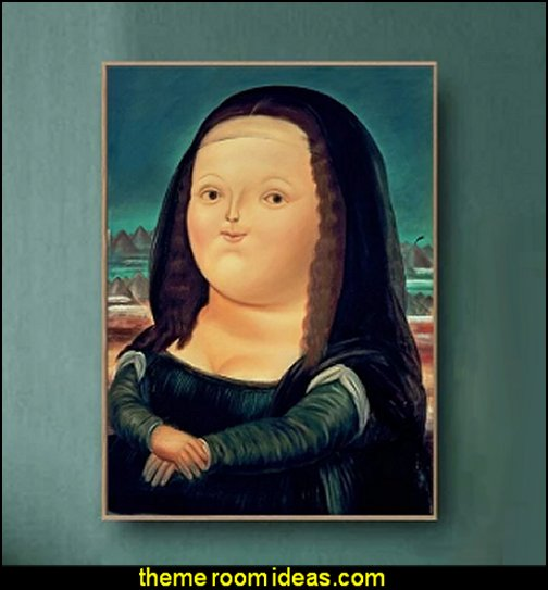 Fat Mona Lisa Poster WALL ART WALL POSTERS QUIRKY WALL ART funny wall art